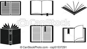 open book icon set simple style csp51537291