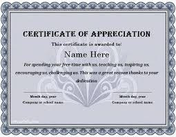 Certificate Of Appreciation 21 Certificate Of Appreciation