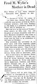 Ida Carpenter Wylie - Obituary - Newspapers.com