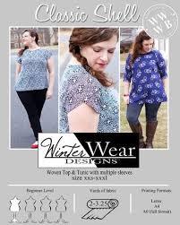 <b>Classic</b> Shell for Women size xxs-<b>xxxl</b> | <b>Plus size</b> sewing patterns ...