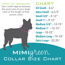 Small Dog Collar Size Chart Reflective Dog Collar Tough With 6 Sizes