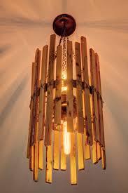 custom made rainbow poplar chandelier with edison bulbs