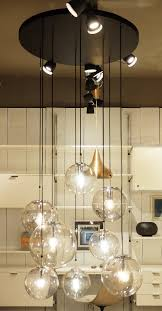 glass globes chandelier by limburg glashütte germany