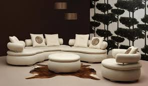 cool couch fabric. Fine Couch Beautiful Curved Sectional Sofa Living Room Furniture Round Leather  Ottoman Coffee Table Brown Fabric Rug And Cool Couch