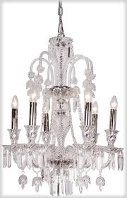 elegance 6 branch clear glass chandelier
