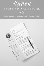 Resume Template With Photo Modern Resume Template Word Creative
