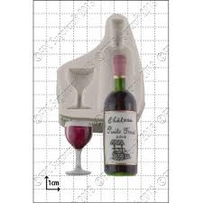 wine bottle glass silicone icing mould