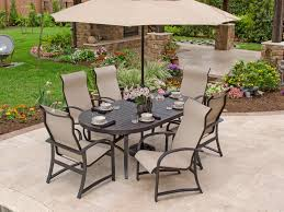 nice sling back patio dining sets 2947025 ibiza sling aluminum patio furniture outdoor patio