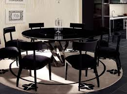 dining room black dining room table sets kitchen dinette sets modern black round glass dining