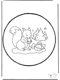 Disegno Da Bucherellare Scoiattolo Animali