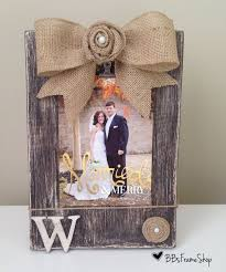 diy frames and burlap fresh handmade distressed wooden picture frame with initials rosettes and