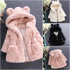 Children Outwear Toddlers Girls Winter Coat Junoesque Baby Faux Fur Fleece Lined Kids Jackets Coats Warm Down Jacket