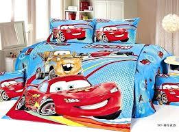 disney car comforter new blue lightning cars bedding sets single twin size bedclothes bed quilt duvet