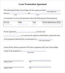 Sample Lease Termination Agreement 13 Free Documents Download In
