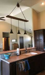 cathedral ceiling lighting ideas. Barn Wood Pulley Vaulted Ceiling Light Fixture Pendants Are From Lowes Cathedral Lighting Ideas E