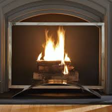 pleasant hearth fa340s 1 panel fireplace screen plated pewter fireplace screens at hayneedle
