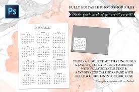 Calendars To Edit 2019 Fully Editable Calendar Kit Fancy Text Edit Fonts