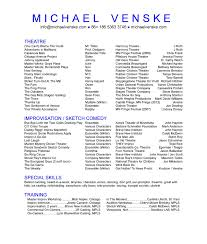 94 Technical Theater Resume Technical Theatre Resume Template