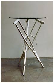 tensegrity furniture. 3strut Crutch Table By Flemons.PNG Tensegrity Furniture