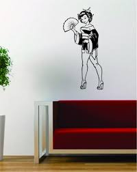 extravagant wall vinyl art japanese pin up girl design decal sticker decor home south africa cape