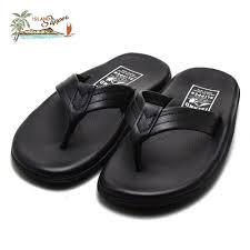 island slippers men hawaii leather sandals black islandslipper pb202 black
