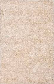solid ivory white polyester and wool area rug challen
