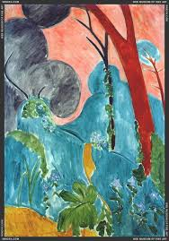 best landscapes images henri matisse painting why is it so impossible to a large poster of this periwinkles moroccan garden by henri matisse 1912
