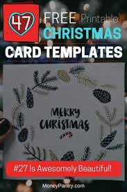 Free Greeting Card Printables 47 Free Printable Christmas Card Templates You Can Even