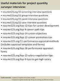 15 useful materials for project quantity surveyor quantity surveyor resume