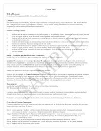 Format For Lesson Plans Free 10 College Lesson Plan Examples Templates Download
