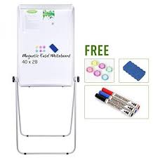 Flip Chart Board With Stand Price Stand Board 40x28 Inches Magnetic Whiteboard Double Sided