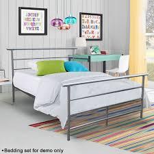 Steel Bedroom Furniture Twin Full Size Metal Bed Platform Frame Bedroom Home Furniture