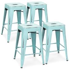 distressed metal furniture. Best Choice Products 24in Set Of 4 Stackable Modern Industrial Distressed Metal Counter Height Bar Stools Furniture A
