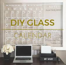 diy cool home office diy. diy glass calendar diy cool home office