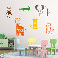 nursery animal wall stickers by mirrorin notonthehighstreetcom