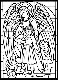 Angel Stained Glass Coloring Pages Coloringstar