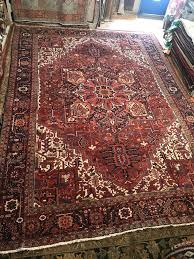 details about antique hand knotted geometric red large wool rug 11 3 x 15 9 circa 1930s