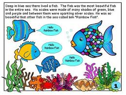 the rainbow fish by marcus pfister story telling sequencing and printables free from kinderprep on teachersnotebook 52 pages