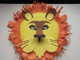 How To Make Face Mask From Chart Paper A Home Made Paper Plate Lion Mask With Features Like The