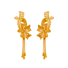 Gold Earrings Designs In Sri Lanka 22kt Yellow Gold Stud Earrings For Women