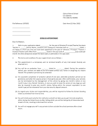 Govern Fresh Ideas Government Job Appointment Letter Format