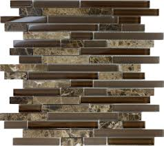 Stone Wall Tiles Kitchen 1sf Brown Glass Natural Stone Linear Mosaic Tile Wall Kitchen