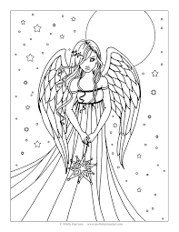 Fairies And Angels Coloring Pages With Christmas Fairy Beautiful