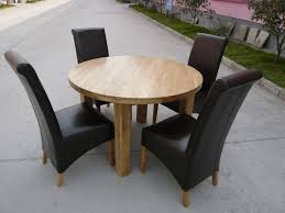 solid oak round table 120cm round