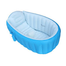 baby inflatable bathtub portable infant toddler non slip bathing tub t