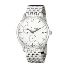 tissot t0636391103700 tradition gmt white dial stainless steel tissot dial stainless steel bracelet casual tradition watch t0636391103700
