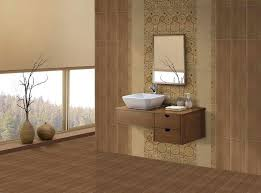 Lavish Window Design To View A Beautiful Scenery Outside With A Brown  Sensation Bathroom Wall Tile Designs