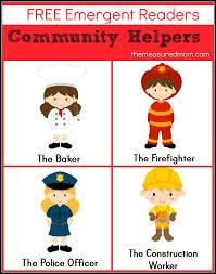 Community Helpers Chart Pdf Free Community Helpers Emergent Readers The Measured Mom
