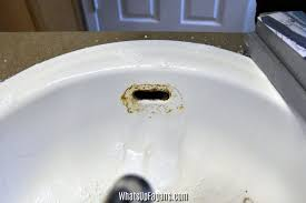 if it s not staying well like if it s around your sink overflow like mine and is vertical you can use the bar keepers friend more spray foam