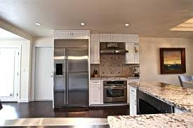 white kitchens with stainless appliances. Kitchens With Stainless Appliances White Cabinets Steel Sink Kitchen .